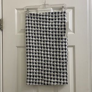NWT Lapis from Anthro black/white checker skirt sm